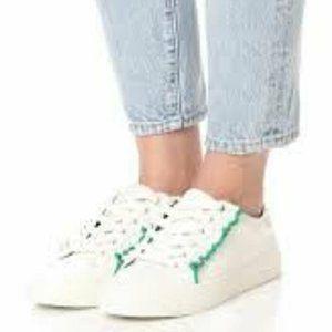 Tory Burch Ruffle Leather Sneaker Sport Shoes 8.5